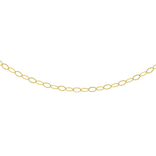 Belcher Chain Necklace in 9K Yellow Gold 18 Inch