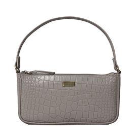 ZARA Genuine Leather Croc Shoulder Bag