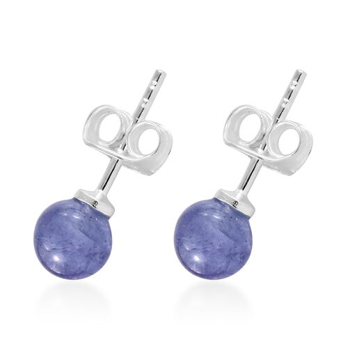 One Time Deal- Tanzanite Earrings (with Push Back) in Sterling Silver 3.500 Ct