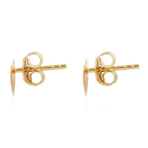 Heart Stud Earrings (with Push Back) in 14K Gold Overlay Sterling Silver