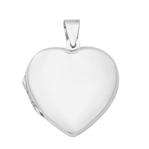 Designer Inspired- Sterling Silver Heart Locket, Silver wt 6.60 Gms.