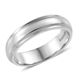 RHAPSODY 950 Platinum Milgrain 5mm Comfort Fit Wedding Ring, Platinum wt 7.36 Gms.