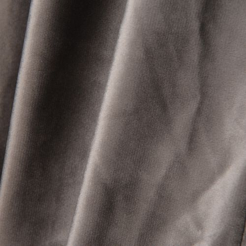 Luxury Edition - Extremely Soft Short Pile Panel Curtain with Hidden Loops in Dark Grey Colour (Size in Cm 230 Drop x140 Width)