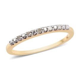 Diamond Half Eternity Ring in 14K Gold Overlay Sterling Silver