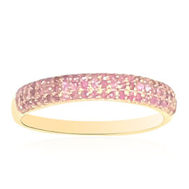 One Time Deal- New York Collection - Burmese Ruby (Rnd) Ring in Yellow Gold Overlay Sterling Silver 1.000 Ct.