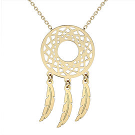 Monster Deal- 9K Yellow Gold Dream Catcher Necklace (Size 16 with 1.5 inch Extender)