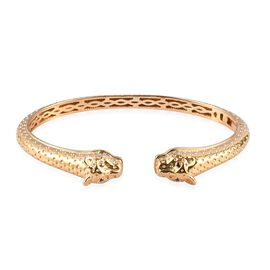 Cuff Bangle in Gold Plated 7.5 Inch
