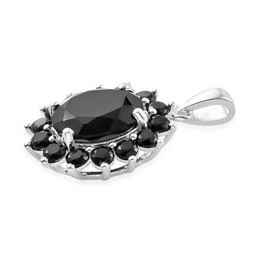 Boi Ploi Black Spinel (Ovl) Pendant in Sterling Silver 6.000 Ct.