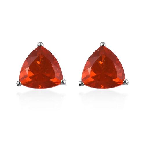 RHAPSODY 2.50 Ct AAAA Jalisco Fire Opal Stud Solitaire Earrings in 950 Platinum