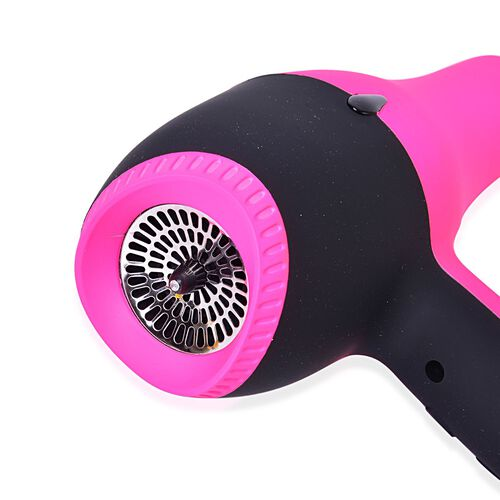 Pink and Black Colour Hair Dryer with 2 Nozzles