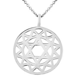 RACHEL GALLEY Chakra Collection - Rhodium Overlay Sterling Silver Pendant with Adjustable Chain (Siz