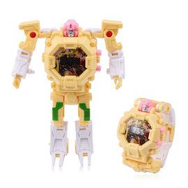 Yellow Colour Mecha Robot Electronic LED Dial Watch