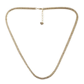 Royal Bali Mesh Chain Necklace in 9K Gold 22.58 Grams Size 20 with 1 inch Extender