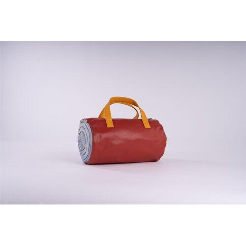 FIORUCCI Multi Colour Duffle Bag with Zipper Closure and Detachable Adjustable Shoulder Strap (Size 34x21 Cm) - Red