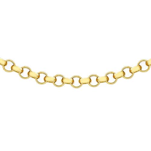 JCK Vegas Collection 9K Yellow Gold Round Belcher Chain (Size 24), Gold wt. 4.50 Gms.
