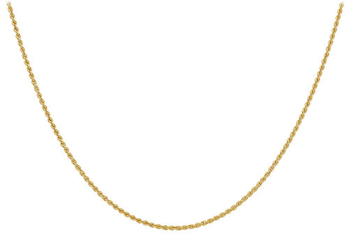 9K Yellow Gold Rope Chain (Size 18),