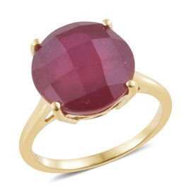 10 Carat AAA African Ruby Solitaire Ring in 9K Gold 1.92 Grams