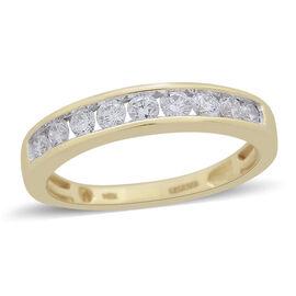 ILIANA 0.50 Carat Diamond Half Eternity Ring in 18K Gold 3.82 Grams IGI Certified