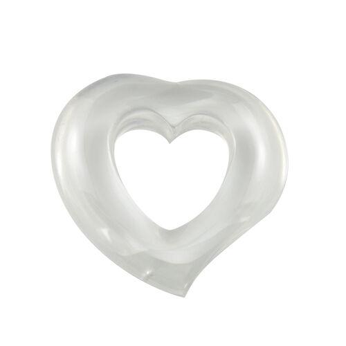 Cubic Zirconia Heart Pendant - White