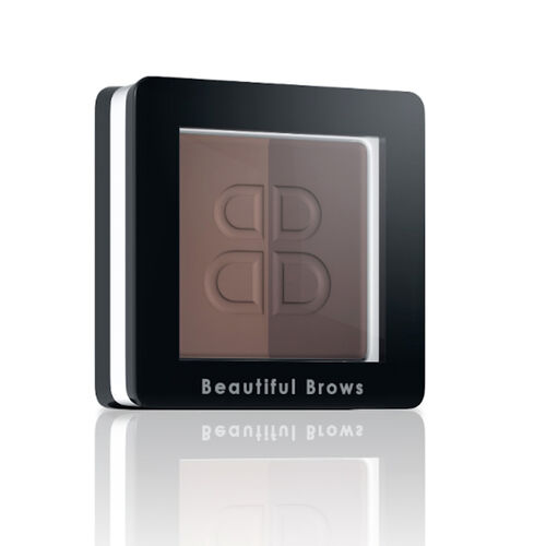 Beautiful Brows: Duo Brow Kit - Light/Medium Brown (with Free Trimmer & Brow Refill)
