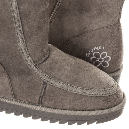 GURU Womens Winter Fluffy Ankle Boots (Size 8) - Grey