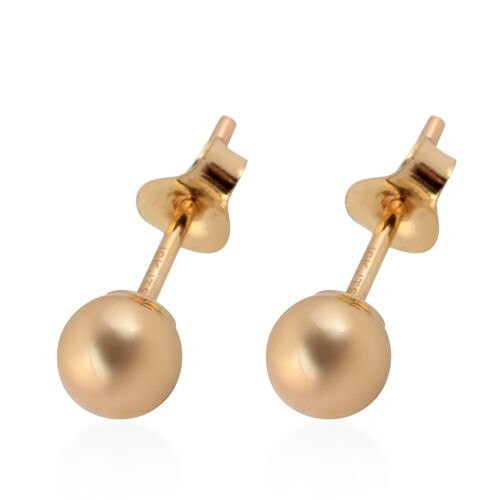Hatton Garden Close Out Deal- 9K Yellow Gold Stud Earrings (with Push Back)