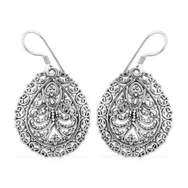 Royal Bali Collection Sterling Silver Hook Earrings, Silver wt 6.00 Gms