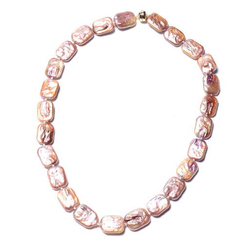 ILIANA Purple Keshi Pearl Beaded Necklace in 18K Gold 3 Grams 20 Inch