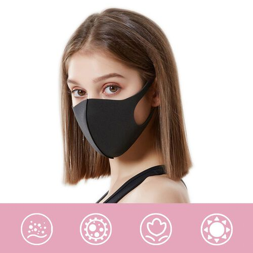Reusable Washable Face Covering  - Black