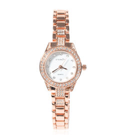 ETERNITY Crystal from Swarovski Studded Ladies Watch in Rose Gold Tone