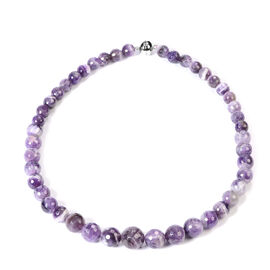 Bi-Colour Amethyst Necklace (Size 20) in Rhodium Overlay Sterling Silver 462.50 Ct.