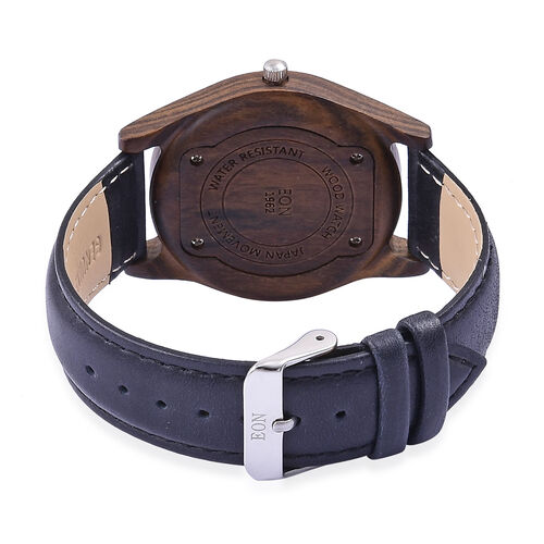 EON 1962 Sandalwood Watch with Black Genuine Leather Strap