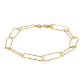 Designer Ispired - Open Link Bracelet in Yellow Gold Overlay Sterling Silver (Size 8)