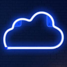Decorative NEON Cloud LED Wall Light - Sky Blue