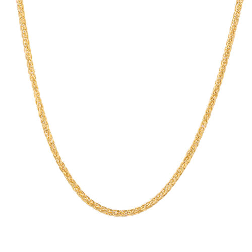 Close Out Deal 9K Yellow Gold Spiga Necklace (Size 20), Gold wt 6.89 Gms.