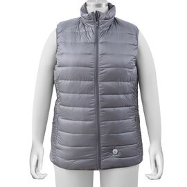 Japanese Heating Wire Down Puffer Vest with 3 Heat Setting in Grey