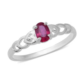 One Time Deal- African Ruby (Ovl) Ring in Sterling Silver 0.650 Ct.