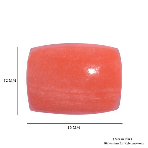 AAA Peach Opal Cushion 16x12 Cabochon 6.87 Cts
