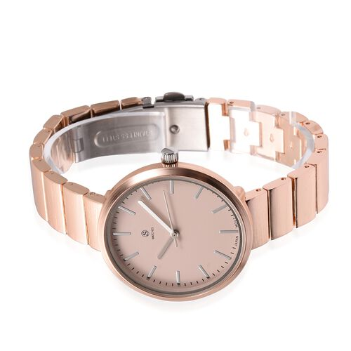 STRADA Japanese Movement Water Resistant Watch in Rose Gold Plated