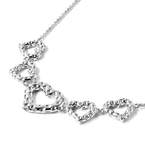 RACHEL GALLEY Heart Necklace (Size 24) in Rhodium Overlay Sterling Silver