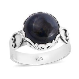 Royal Bali Collection - Azurite Ring in Sterling Silver 6.69 Ct, Silver wt. 3.20 Gms