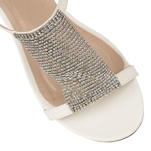 Lotus White Klarissa Wedge Open-Toe Sandals (Size 3)