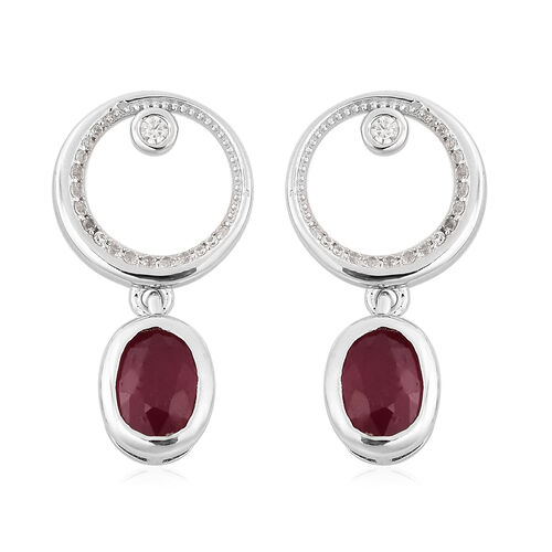 Isabella Liu Sea Rhyme Collection -  African Ruby and Natural Cambodian Zircon Earrings (with Push B