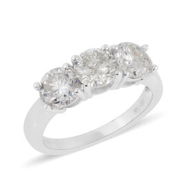 NY Close Out Deal 14K White Gold IGL Certified Diamond (Rnd) (I1-I2/G-H) Ring 2.50 Ct.