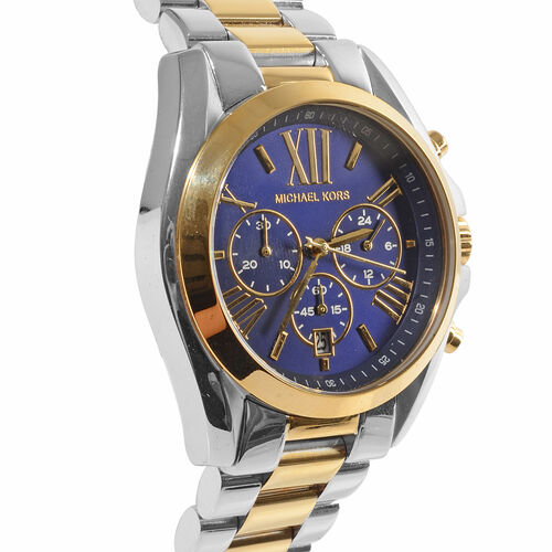 Doorbuster Deal- Michael Kors Chronograph Unisex Watch in Two Tone Stainless Steel