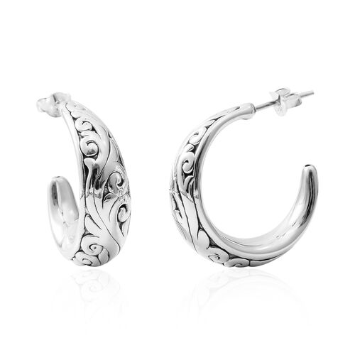 Rhodium Overlay Sterling Silver Earrings (with Push Back) Silver wt 6.02 Gms.