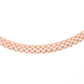 Vicenza Collection Rose Gold Overlay Sterling Silver Bismark Necklace (Size 18 with 2 Inch Extender)