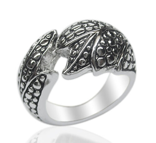 Designer Inspired Platinum Overlay Sterling Silver Ring, Silver weight 8.60 Gms.