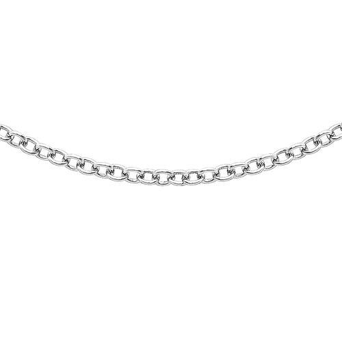 ILIANA 18K White Gold Trace Chain (Size 18)