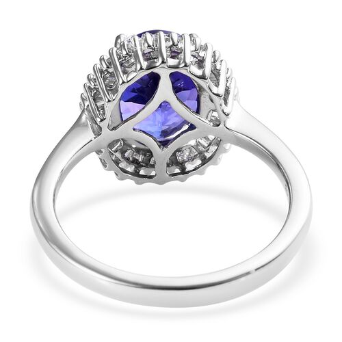 RHAPSODY 950 Platinum AAAA Tanzanite (Ovl), Diamond (VS/E-F) Ring 2.85 Ct.